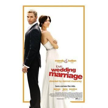 Love Wedding Marriage poster Metal Sign Wall Art 8in x 12in