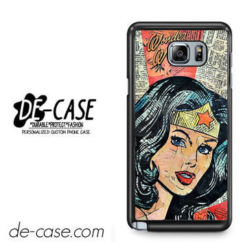 Wonder Woman Superhero Comic Book For Samsung Galaxy Note 5 Case Phone Case Gift Present