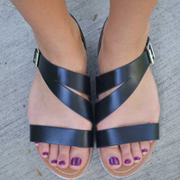 Sidestep Sandals - Black