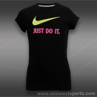 Nike Girls Tennis Top, Nike Girls Swoosh Short Sleeve T-Shirt 526783-012