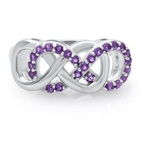 Infinity X Infinity™ Amethyst Ring in Sterling Silver - Rings - Infinity X Infinity - Collections - Categories - Helzberg Diamonds