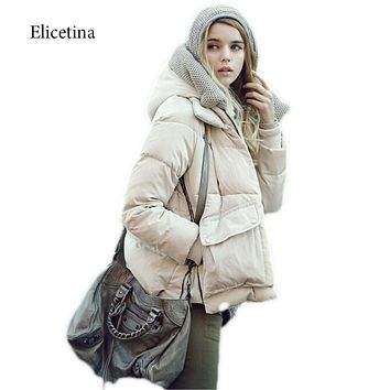 New Designer  style Fashion Ladies  Winter Overcoat Women Brand 90% White Goose Down Coat Jackets In Stock