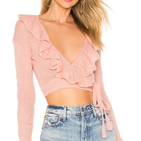 Lovers + Friends Macaroon Wrap Sweater in Light Pink | REVOLVE