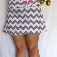 Monogrammed Mini skirt, summer skirt, chevron maxi skirt, skirt, maternity skirt, short skirt