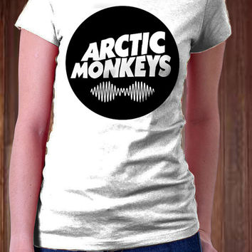 ARCTIC MONKEYS Circle Women T-Shirt - Indie Rock Music Design T-Shirt - All Color Available )