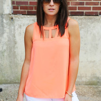 Business Day Tank {Hot Coral}