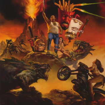 Aqua Teen Hunger Force Colon Movie Film for Theaters 11x17 Movie Poster (2007)