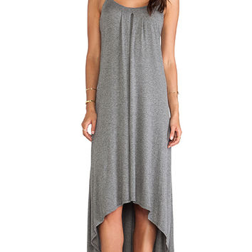 Lanston Hi Lo Maxi Dress in Gray