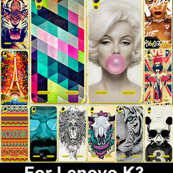 "22 Pattern Fashion Painted Cover Case For Lenovo K3 A6000 Mobile Phone Luxury Hard PC Back Cases Lenovo K3 5"" Case Skin Shell"