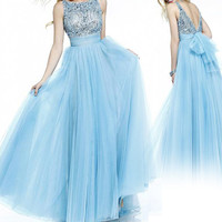 158USD Promotion!! Sweety 16, High Class Hand Weave Beading, Prom Dress, Light Blue color, party dress for girl, sexy & fashion, cocktail