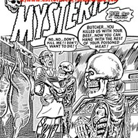 skeleton zombies horror comics art horror coloring page printable art download digital image graphics black and white comics