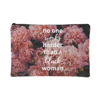 No One Werks Harder Accessory Pouch - Floral