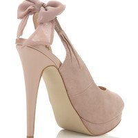 Sugar Pink Bow Sling Heel - Shoes - Miss Selfridge