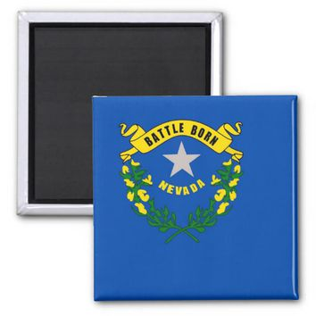 Magnet with Flag of Nevada State - USA