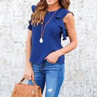 Casual Sleeveless Chic Blouse