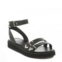 SHELLYS WOMENS BLACK PORTNEUF SANDALS