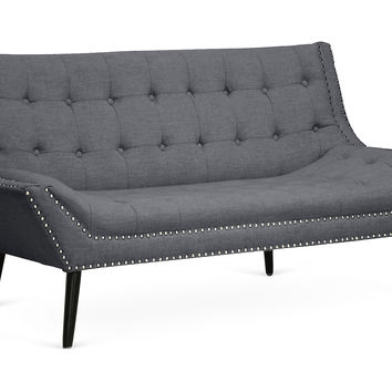 "Tamblin Modern 64"" Love Seat, Gray, Sofas & Loveseats"