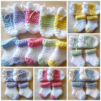 0-3months Baby Socks & Mitts Set Color Options