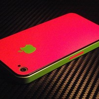 iPhone 4 - 4S Red Design Skins Wrap Full Guard Buy Any 2 Get 1 Gift | Skinstronic - Techcraft on ArtFire
