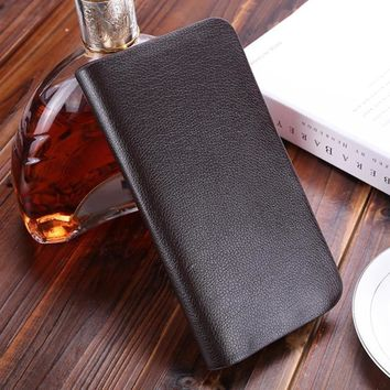 Leather Man Wallet Concise Money Bag Huge Capacity Thin Coin Purse Coin Card Holder Fashion 2019 Male Long Handbags Male clutch