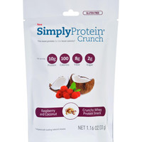 Simplyprotein Crunch - Raspberry Coconut - Single Serve - 1.16 Oz - Pack Of 12