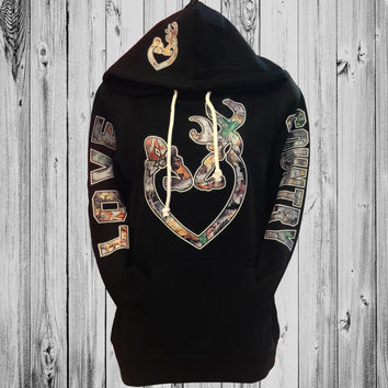 Love Country Camo Heart Hoodie