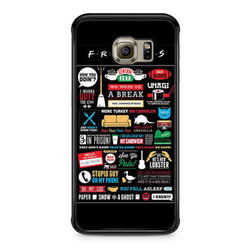 Friends TV Show Infographic Poster Samsung Galaxy S6 Edge case
