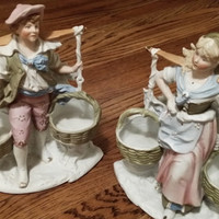 Dutch Boy and Girl Statuettes