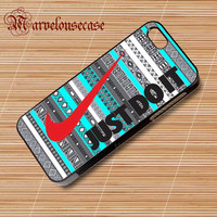 Nike Just Do It on aztec mint pattern custom case for all phone case