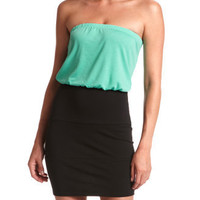 Color Block Tube Dress