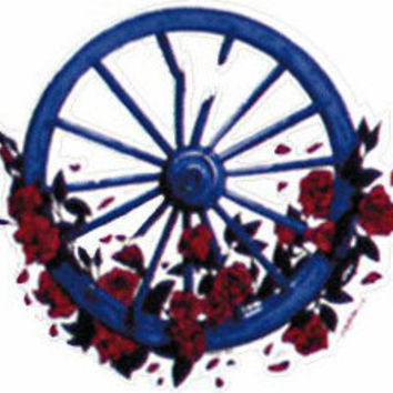 Grateful Dead Broken Wheel INSIDE Window Sticker -- 5 inches