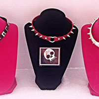 Faux (Vegan) Leather Choker Necklace with Heart Detail - 3 Styles!