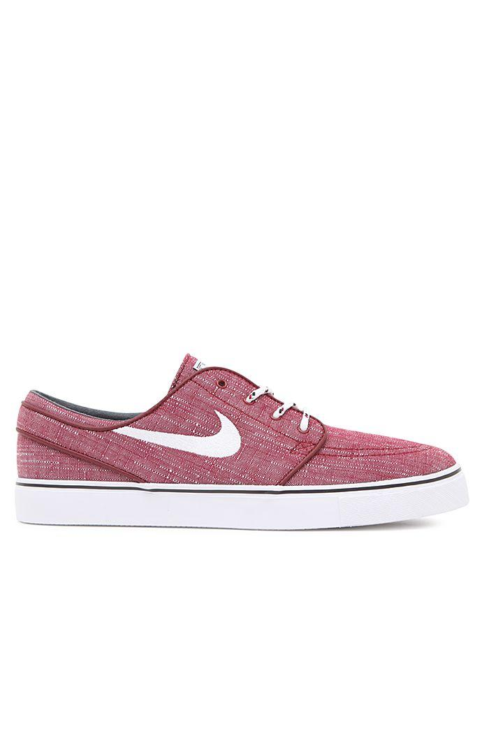 Nike SB Stefan Janoski Canvas Red   White Shoes - Mens Shoes - Red 101d77723