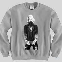 Marilyn Monroe Raiders Crewneck Sports Clothing