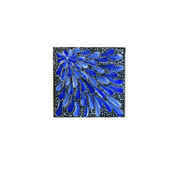 Painting Blue Aboriginal Inspired by Acires on Etsy