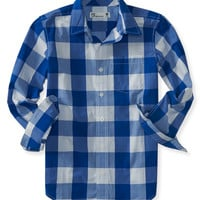 PS from Aero  Kids' Long Sleeve Buffalo Check Woven Shirt