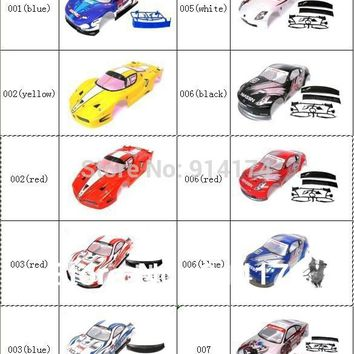 YUKALA 1/10 rc car body shell  for 1:10 R/C racing car 190mm  henglong  2pcs/lot   free shipping