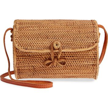 Street Level Cylinder Woven Crossbody Bag | Nordstrom