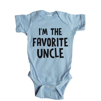 I'm The Favorite Uncle Baby Onesuit