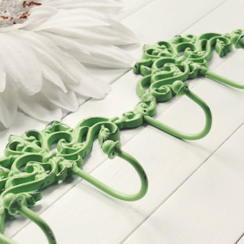 Stocking Holder / Wall Hook / Gift Idea / Green Decor / Hook / Key Hanger / Coat Hook / Organize / Ornate / Fixture