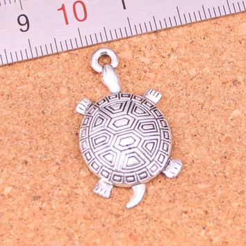 8Pcs/lot 34*28mm Antique Silver Plated tortoise turtle sea Charms Pendant Fashion Jewelry making for necklace