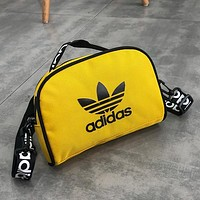 ADIDAS tide brand men's and women's canvas chest bag pockets Messenger bag Yellow