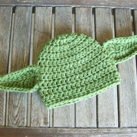 Chunky Yoda Star Wars Inspired Hat / Beanie  by KreativeKroshay