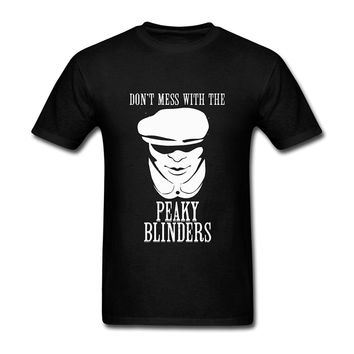 JuDian Don't Mess with The Peaky Blinders T Shirt for Men New T-Shirt Men Fashion T Shirts Top Tee High Quality Personality