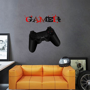 kcik1107 Full Color Wall decal controller console Xbox 360 Game PS4 player bedroom teens