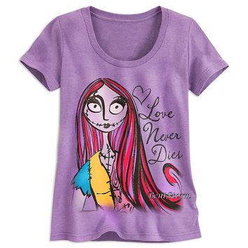Licensed cool Nightmare Before Christmas SALLY Scoop Neck Tee SHIRT WOMEN XS-2X DISNEY STORE