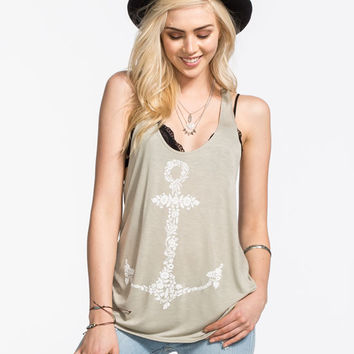 O'neill Anchored Down Womens Tank Sage  In Sizes