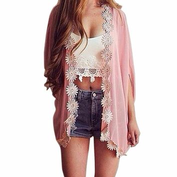 2017 Summer New Women Pareo Beach Cover Up Sexy Bathing Swimsuit Cover Up Women Beach Dress Tunic Floral Swimwear #E8