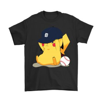 PEAPCV3 Detroit Tigers Baseball Team Pikachu Shirts