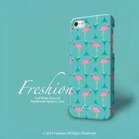 iPhone 5s case Flamingo with Turquoise color , iPhone 5 case, iPhone 5c case, iPhone 4 case, iPhone 4s case, fashion hard plastic, soft case